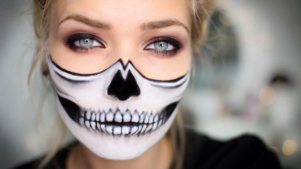 Идеи для жуткого макияжа на Хэллоуин-креатив