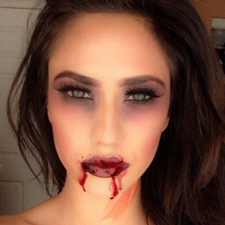 Идеи для жуткого макияжа на Хэллоуин-вампир