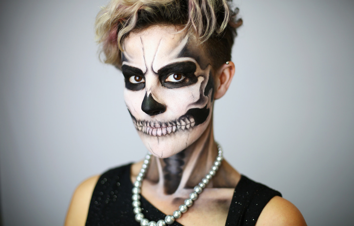 Идеи для жуткого макияжа на Хэллоуин-варианты