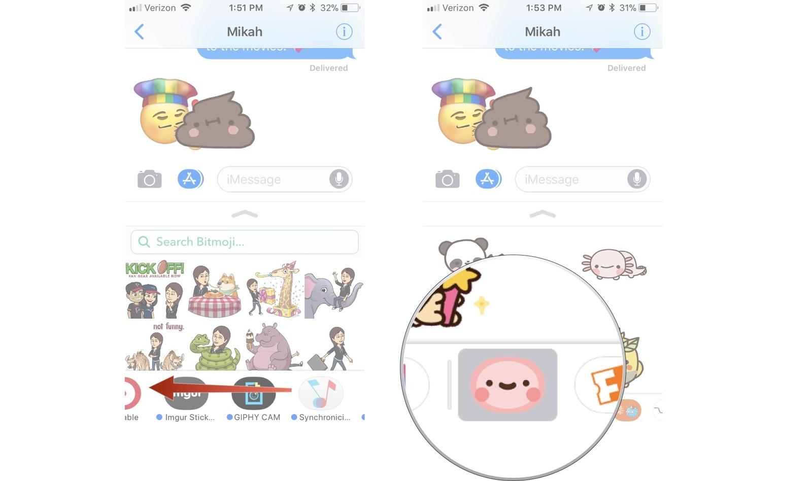 Как пользоваться стикерами и приложениями в iMessage на iPhone и iPad – фото 2