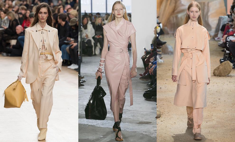 Модные тенденции с показов сезона осень-зима – 2017- благородный нюд фото 2