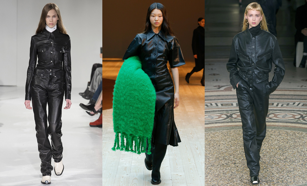 Модные тенденции с показов сезона осень-зима – 2017-черная кожа