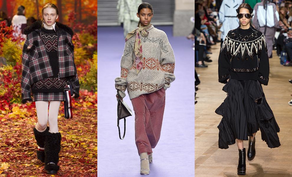 Модные тенденции с показов сезона осень-зима – 2017-лыжный свитер фото 3