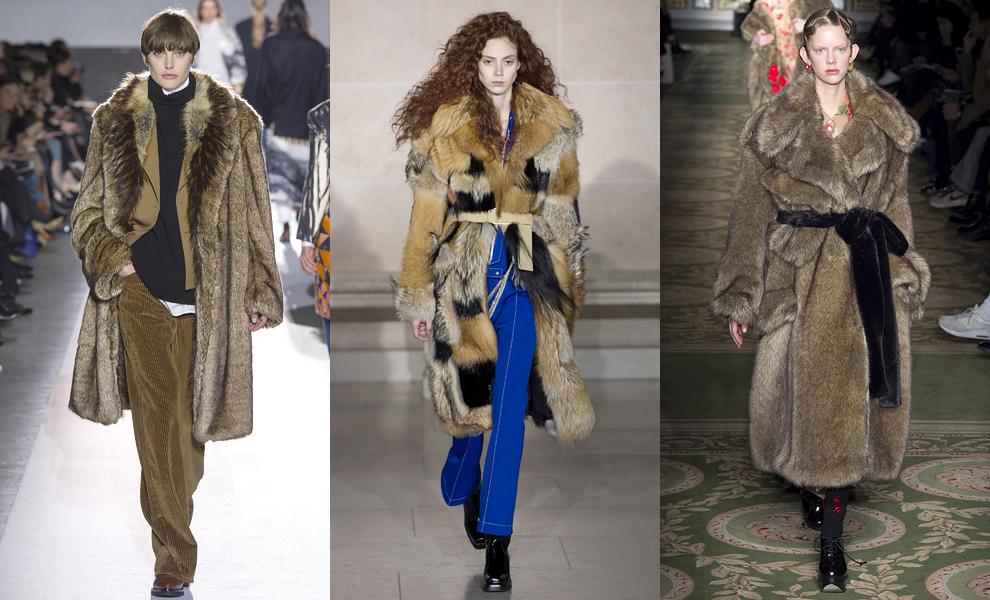 Модные тенденции с показов сезона осень-зима – 2017-мохнатые шубы