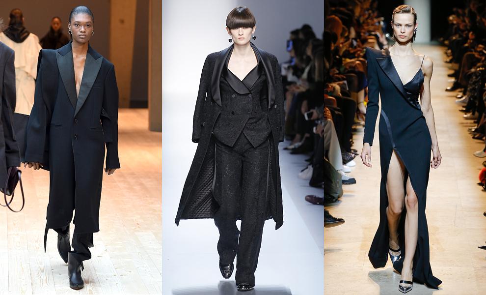 Модные тенденции с показов сезона осень-зима – 2017-смокинг