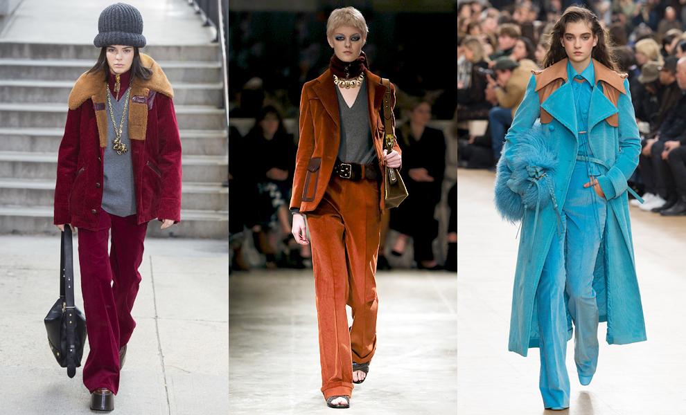Модные тенденции с показов сезона осень-зима – 2017-вельвет фото 2