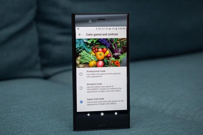 Обзор смартфона Sony Xperia XZ1 - дисплей