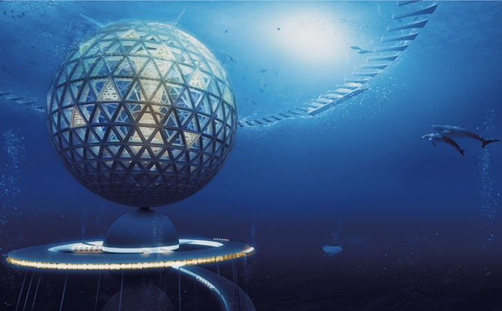 Папка «Фото», Города будущего- реализованные и перспективные проекты – подводный город.