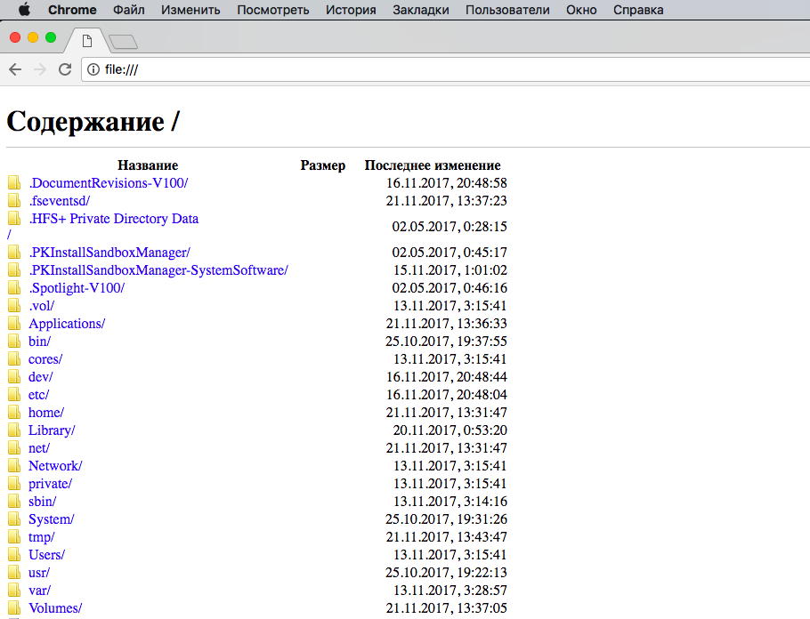 16 секретных возможностей браузера Google Chrome для Windows и Mac - Файловый менеджер