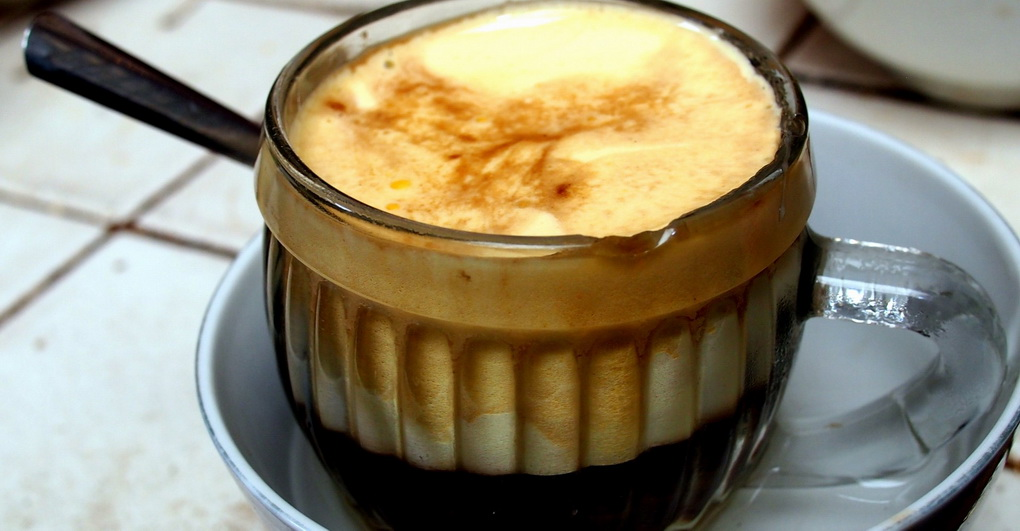 Egg coffee-photo