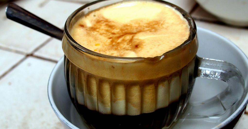 Egg coffee-photo
