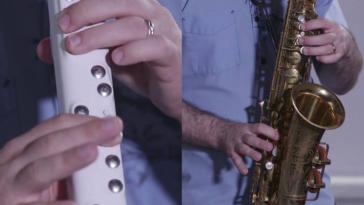 Електронний саксофон- компактніший і легший ніж класичний аналог