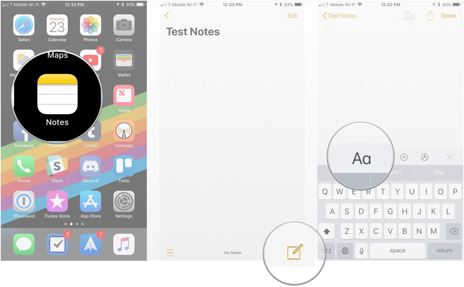 Как форматировать заметки на iPhone и iPad - форматирование списков