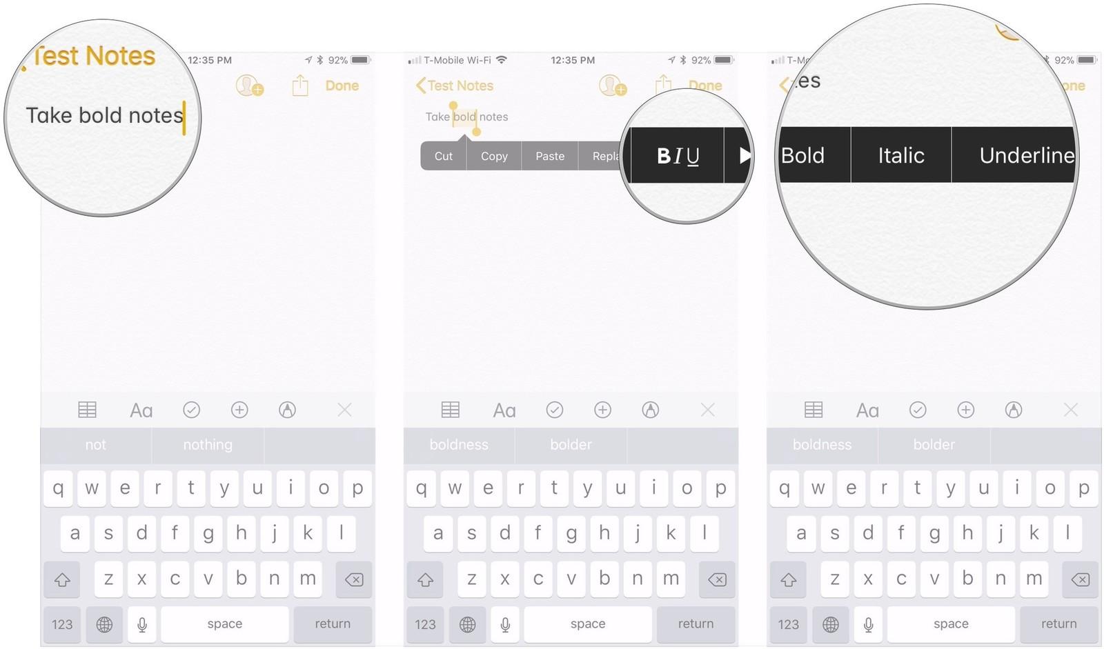 Как форматировать заметки на iPhone и iPad - шрифты