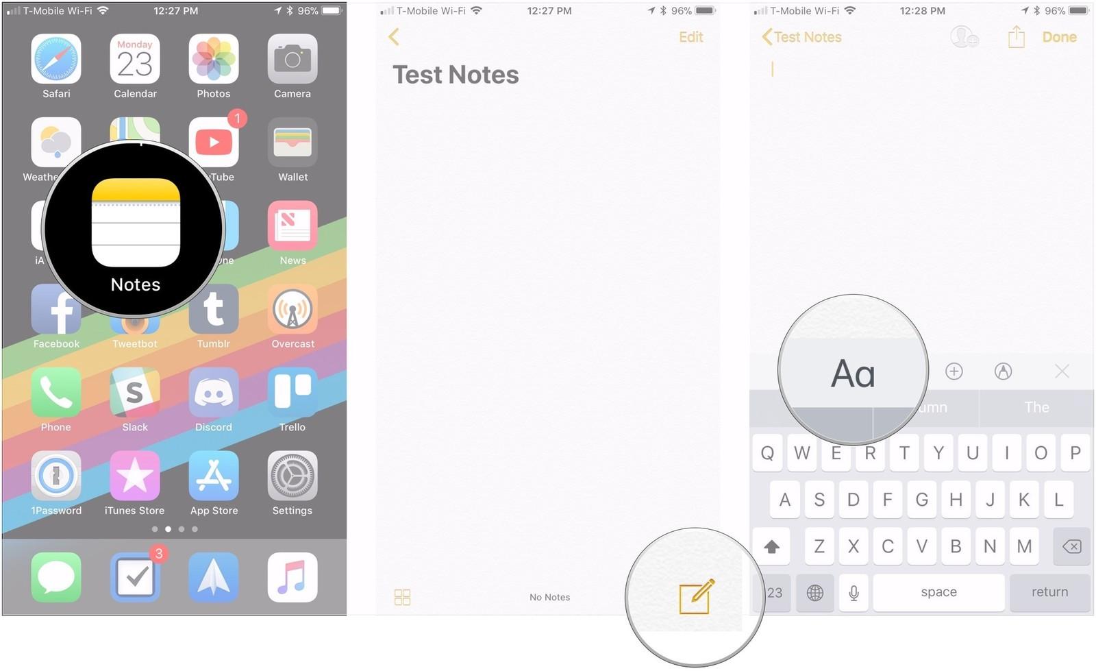 Как форматировать заметки на iPhone и iPad - создание названий и заголовков