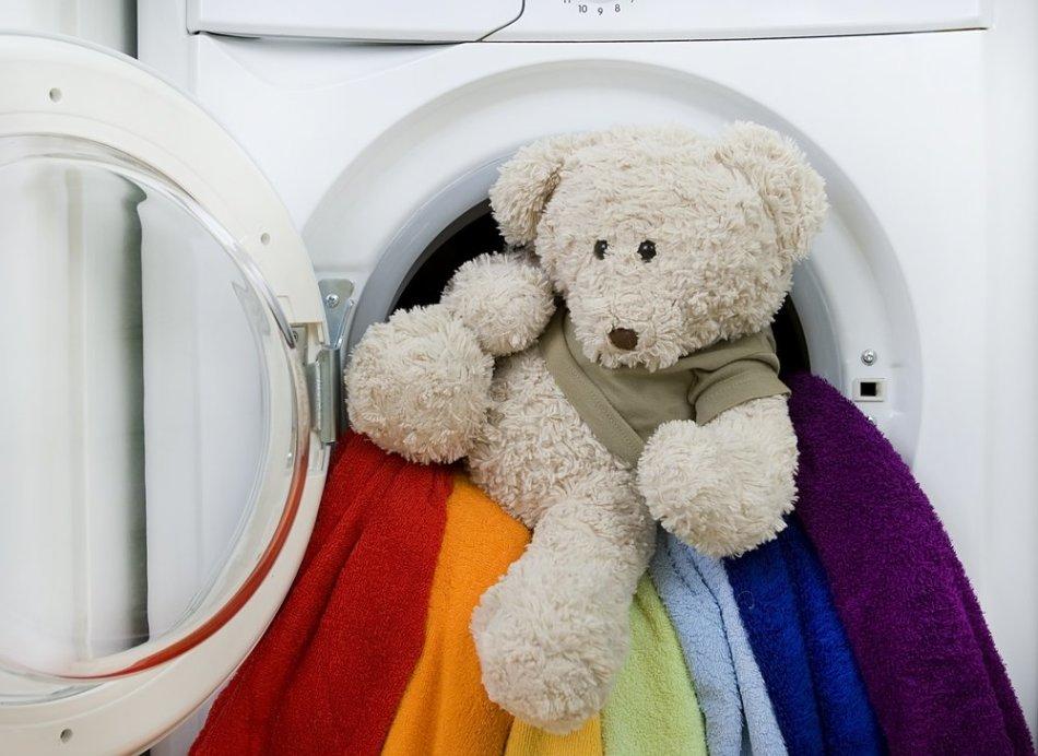 Как устроена стиральная машина_принцип работы - медведь в стиралке