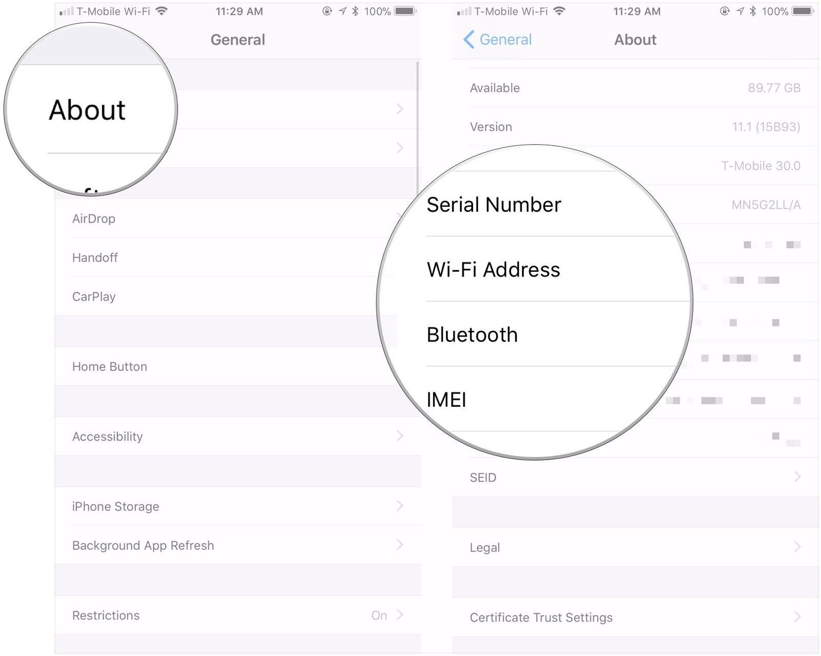 Как узнать серийный номер, IMEI и UDID вашего iPhone или iPad - на устройстве (2)