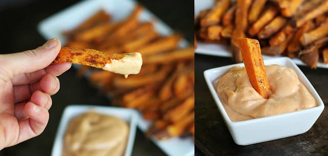 Ложная картошка фри по Дюкану-с соусом