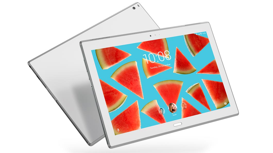 Обзор планшета Lenovo Tab4 10 Plus - арбузы на планшете
