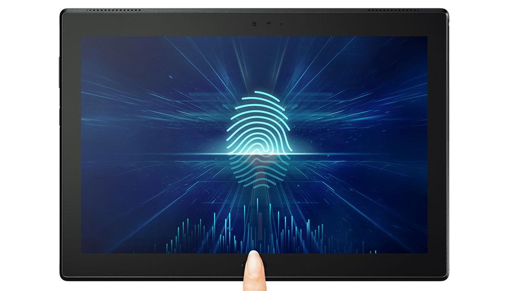 Обзор планшета Lenovo Tab4 10 Plus - сканер отпечатка пальцев