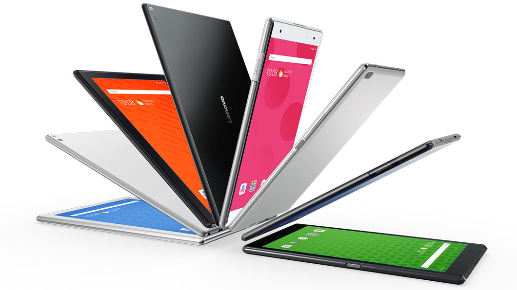 Обзор планшета Lenovo Tab4 10 Plus - веер из планшетов Lenovo
