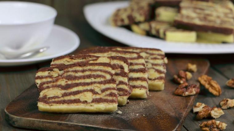 Печенье ванильно-шоколадное «Зебра»