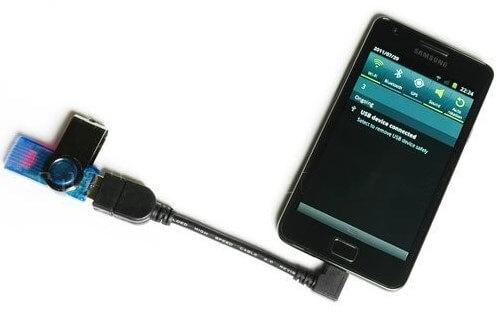 Полезный лайфхак_как подключить флешку к смартфону - OTG кабель