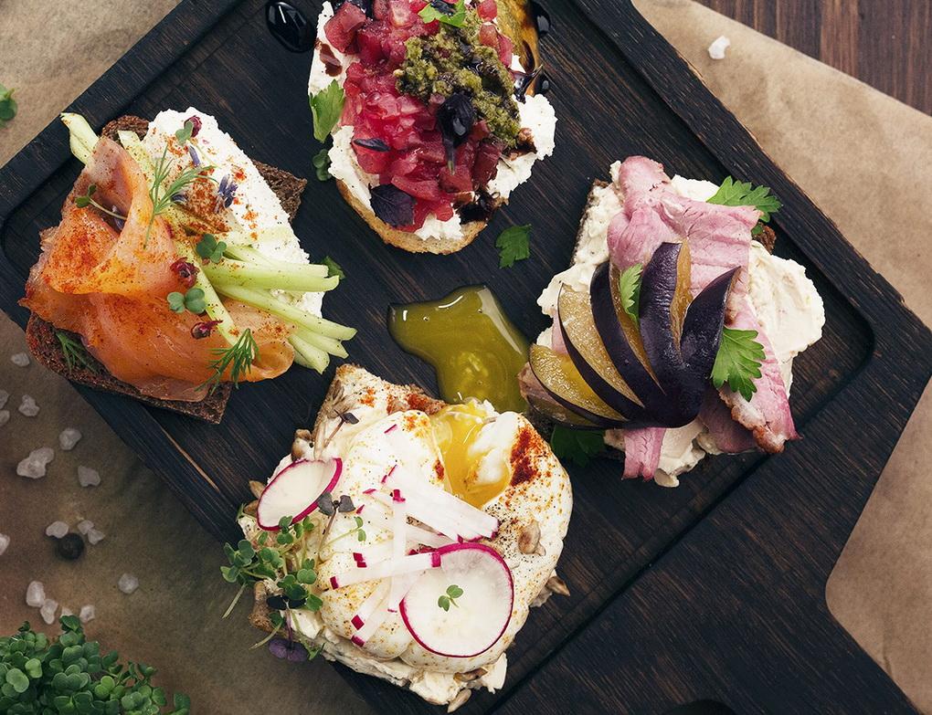 Сет из бутербродов-со сливочным сыром