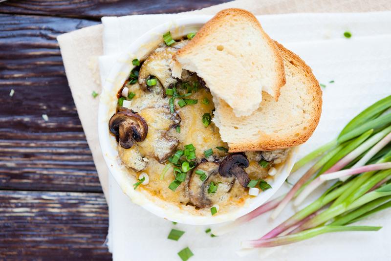 Запеканка с курицей и грибами-рецепт