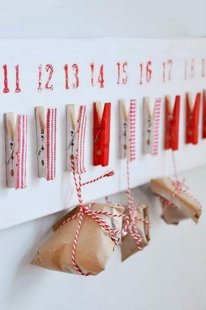 Адвент-календарь-с прищепками идеи