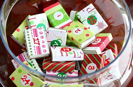 Адвент-календарь-ваза конфет