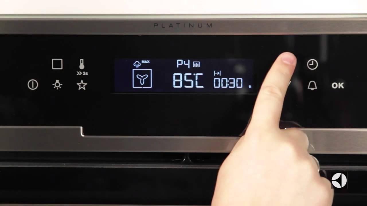Ассортимент и обзор духовых шкафов Electrolux - сенсорная панель управления