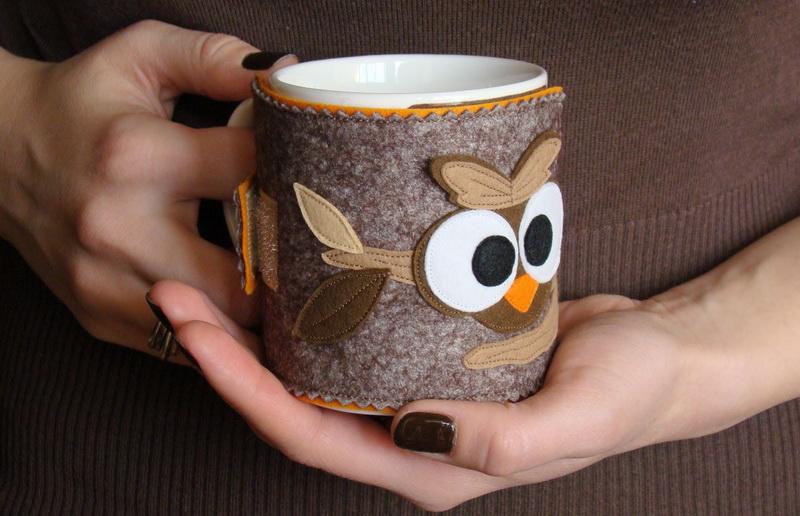 Чехол-грелка для чашки-своими руками