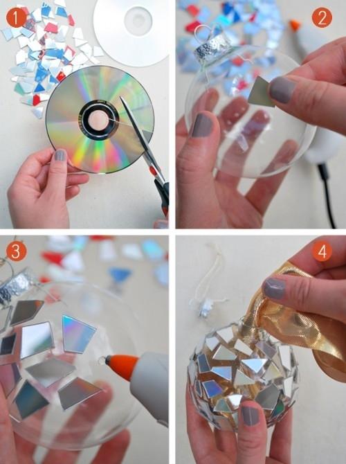 Декор из старых дисков-фото