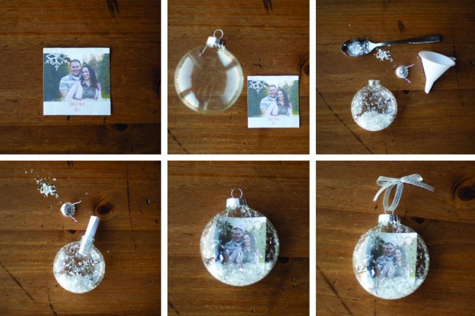 Декор новогоднего шара-с помощью памятных фото мастер-класс в фотографиях
