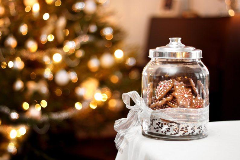 Декоративная банка с медовыми пряниками или конфетами-подарок