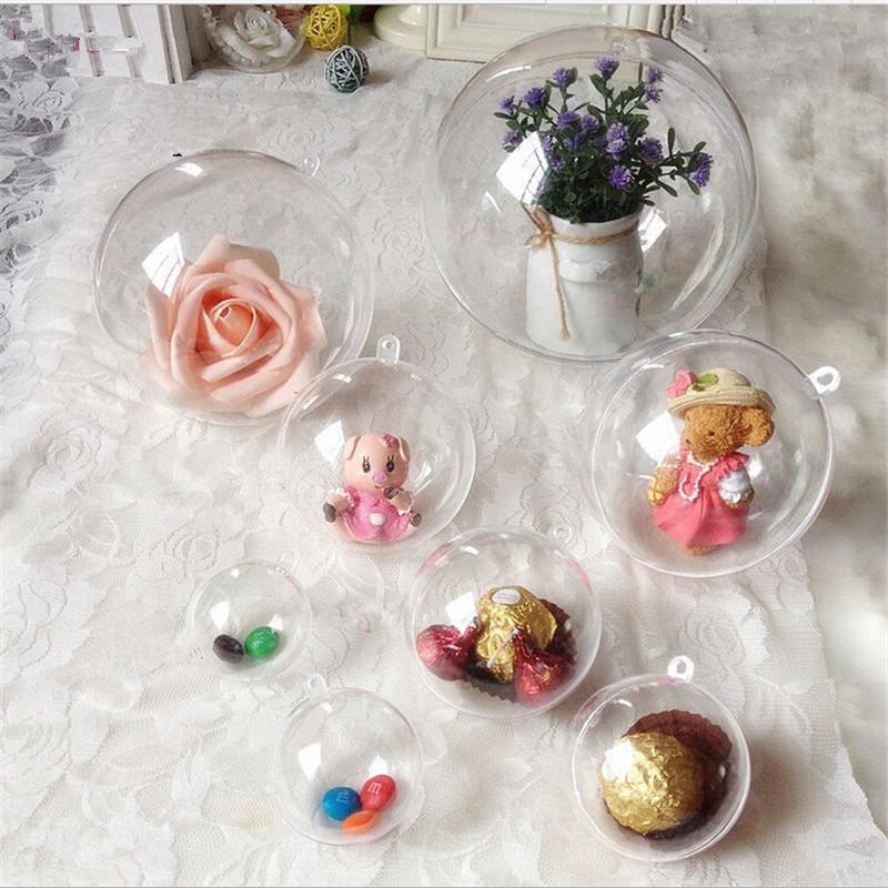 Елочная игрушка своими руками-украшения из прозрачных пластиковых шаров фото 2