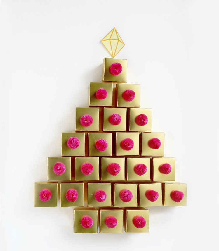 Golden Tree Advent Calendar DIY- Christmas Decor photo 5