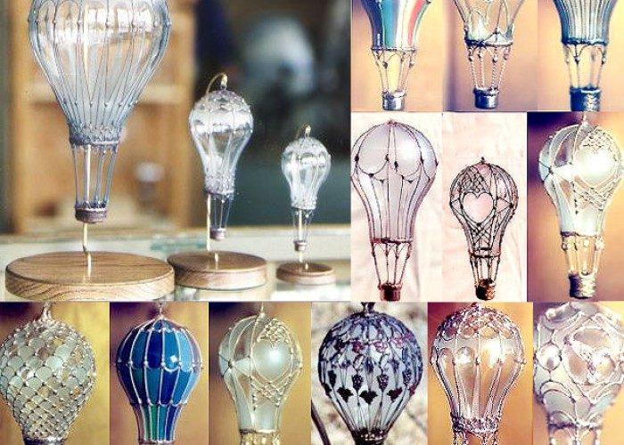Игрушки из лампочек-ажурные