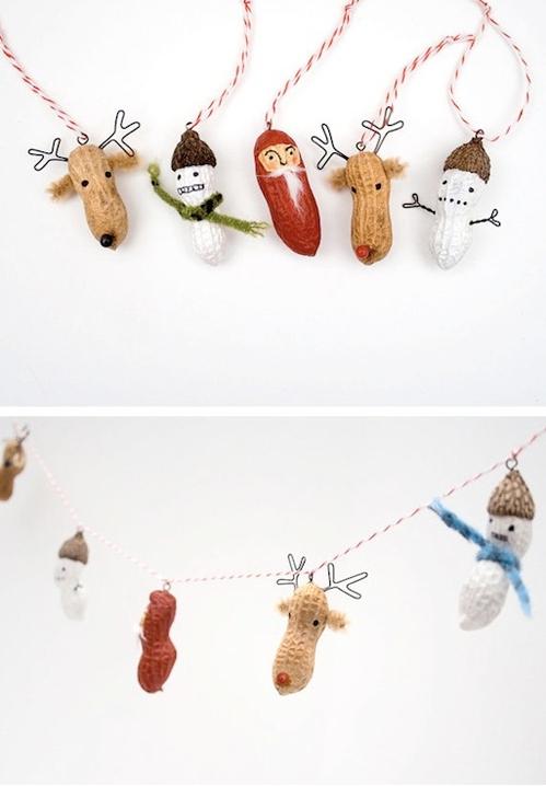 Игрушки на елку из арахиса-идеи и креатив