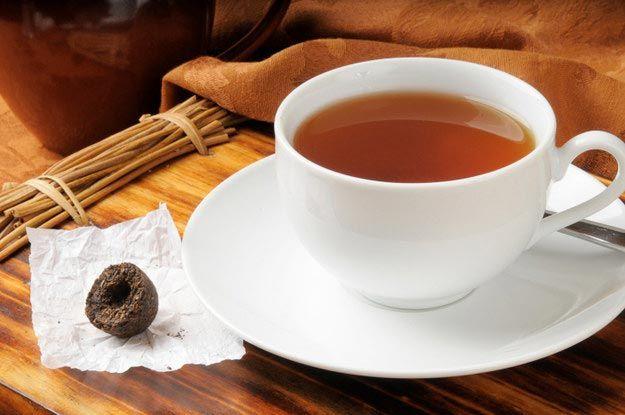 Китай-желтый чай пуэр