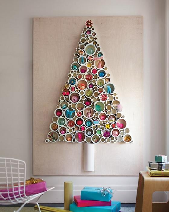 Настенная елка-новогодний креатив
