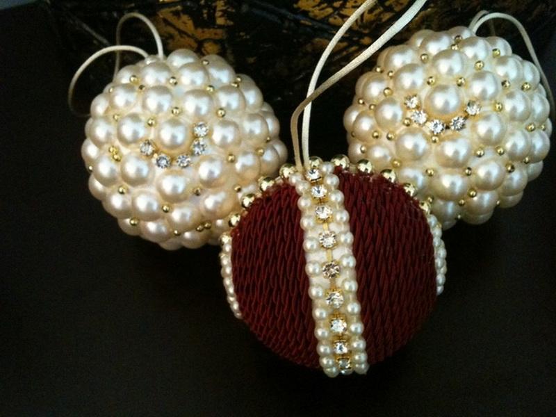 Новогодние шары своими руками-идеи из бусин