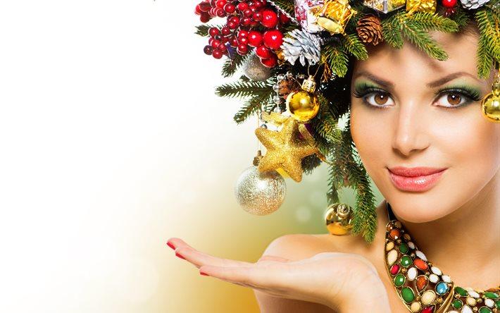 Новогодний макияж-фото