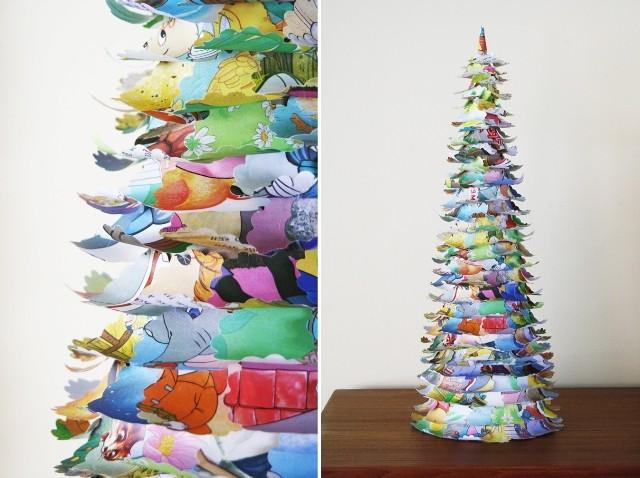 Новогодняя елка-из журнальных страниц