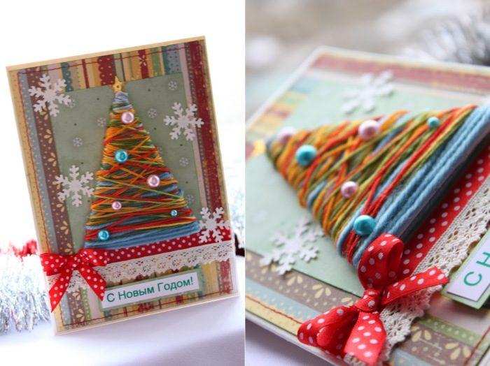 Оригинальные новогодние открытки-идеи и креатив