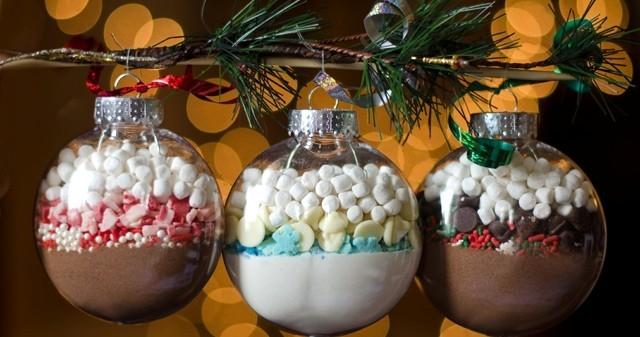 Шар со сладостями-елочные украшения