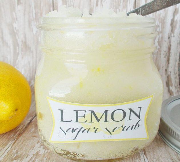 Сахарный скраб-с ароматом лимона