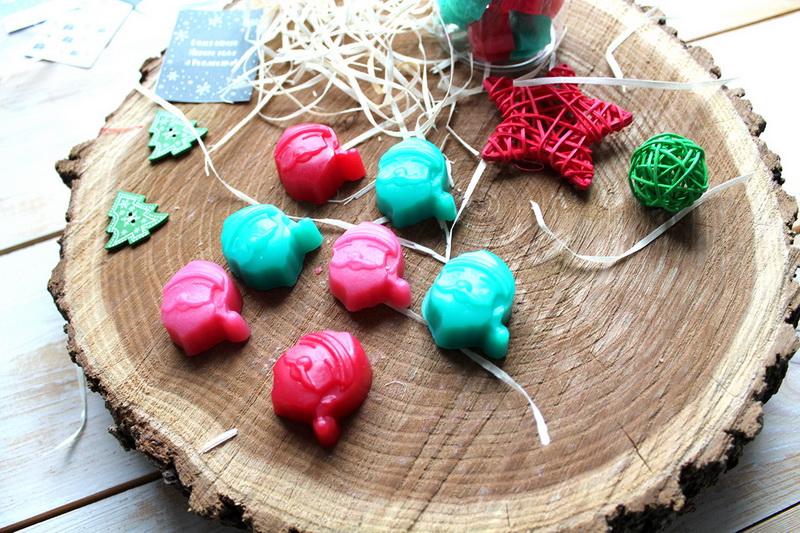 Санта-новогоднее мыло