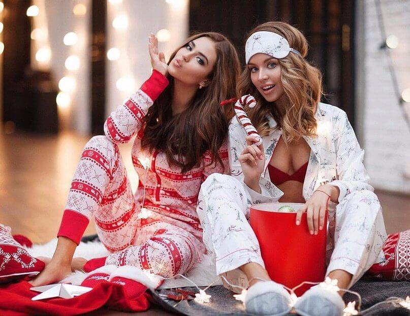 Сестры-пижамная вечеринка